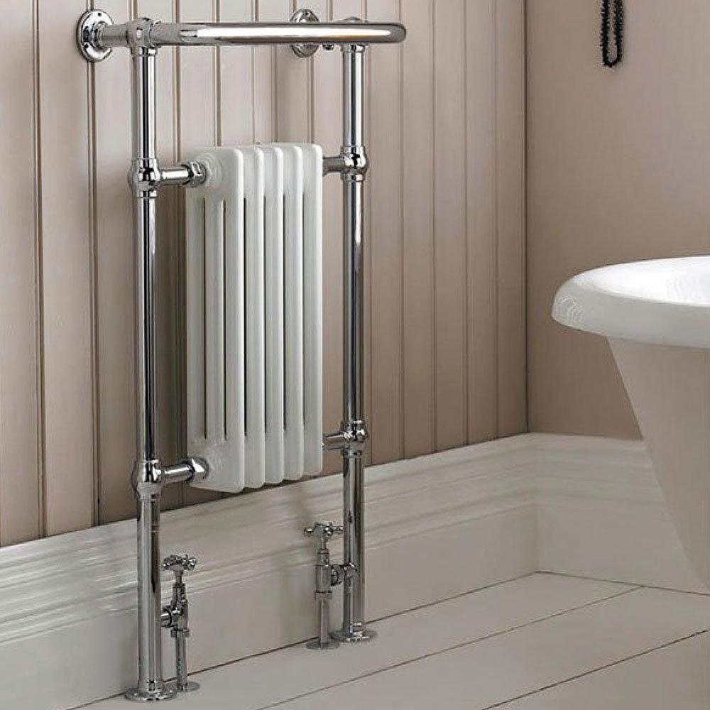Hudson Reed Traditional Earl Heated Towel Rail - Chrome - HT306