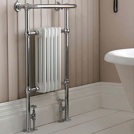 Hudson Reed Traditional Earl Heated Towel Rail - Chrome - HT306