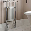 Hudson Reed Traditional Earl Heated Towel Rail - Chrome - HT306 profile small image view 1