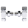 Hudson Reed Pure Square Chrome Radiator Valves - Angled - HT324 profile small image view 1