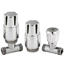 Hudson Reed Chrome Thermostatic Radiator Valves - Straight - HT325 Medium Image