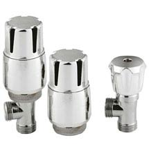 Hudson Reed Chrome Thermostatic Radiator Valves - Angled - HT326 Medium Image