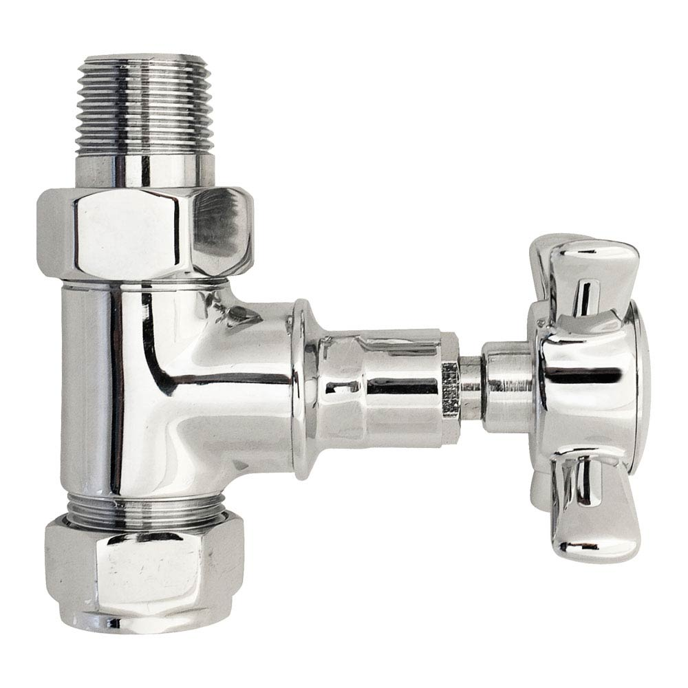 Hudson Reed Victorian Crosshead Straight Radiator Valves - HT379 profile large image view 1
