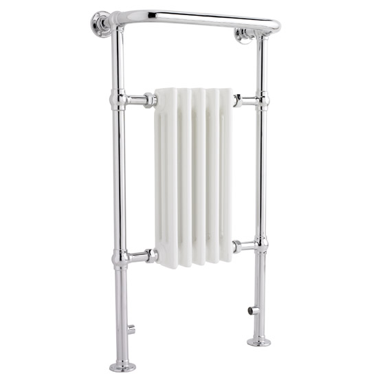 Traditional Small Harrow Heated Towel Rail - Chrome - HTD06 Large Image