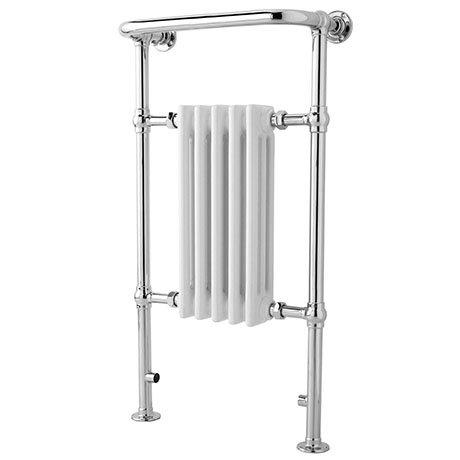 Traditional Small Harrow Heated Towel Rail - Chrome - HTD06