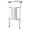 Traditional Small Harrow Heated Towel Rail - Chrome - HTD06 profile small image view 1