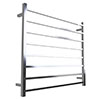 Warmup Hawthorn H912 x W620mm Dry Electric Heated Towel Rail - HTR-8SQPO profile small image view 1