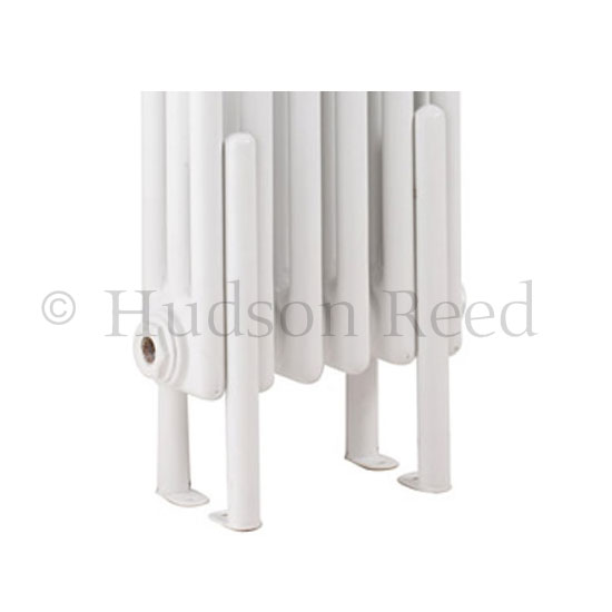 Hudson Reed Floor Mounting Kit for Colosseum Radiators - White - HX300 Large Image