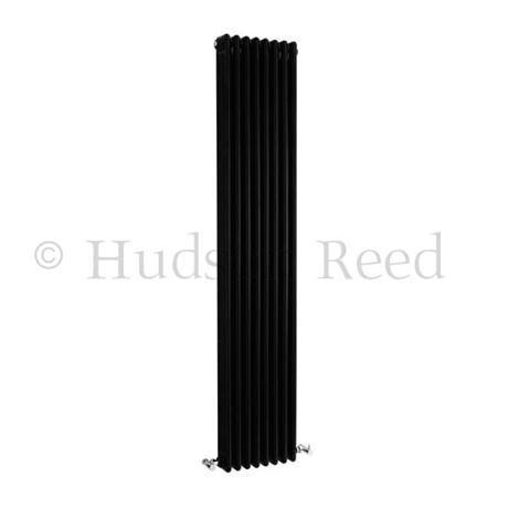 Hudson Reed Colosseum Triple Column Radiator 1800 x 381mm - High Gloss Black - HXB12