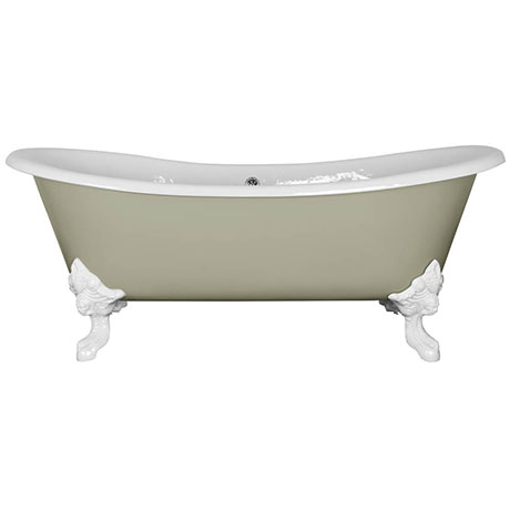 JIG Belvoir 0TH Cast Iron Roll Top Bath (1840x780mm) with White Feet