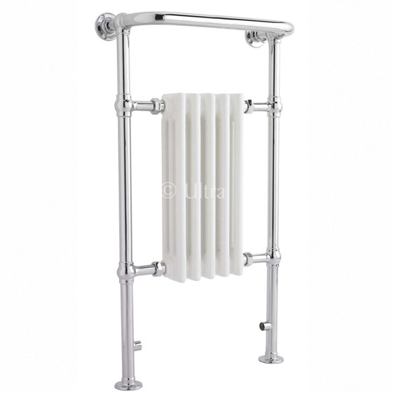 Ultra Traditional Grosvenor Heated Towel Rail - 540 x 965mm - HW326 Large Image