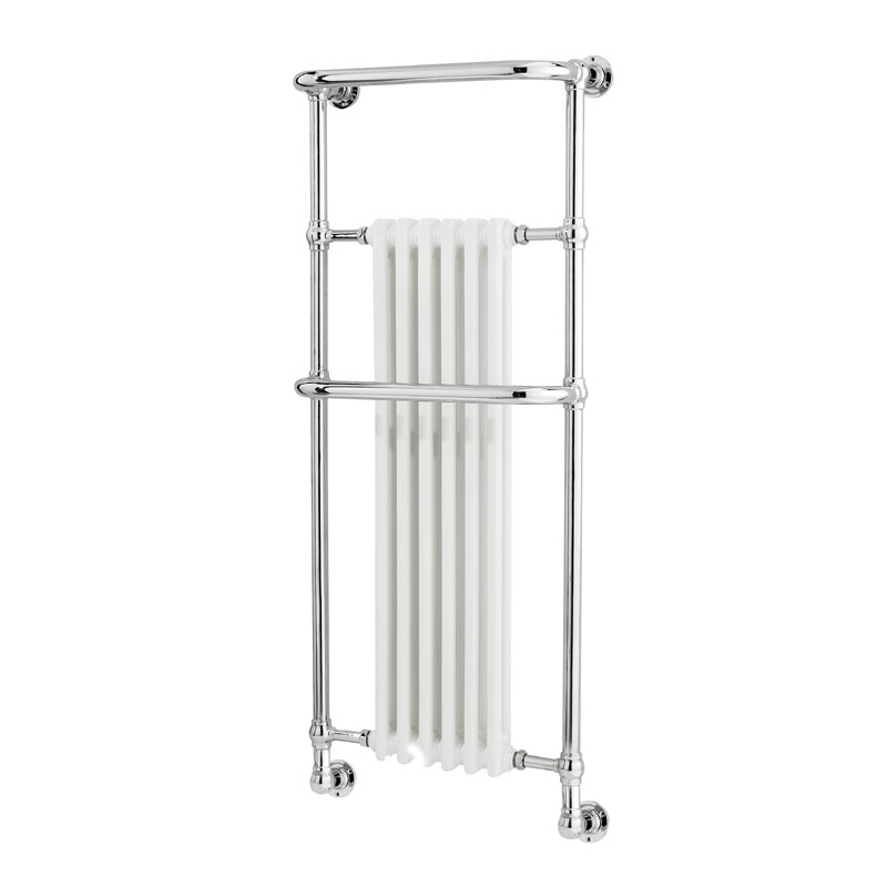 Hudson Reed Brampton Traditional Wall Mounted Heated Towel Rail - 1365 x 575mm - HW337 profile large image view 1