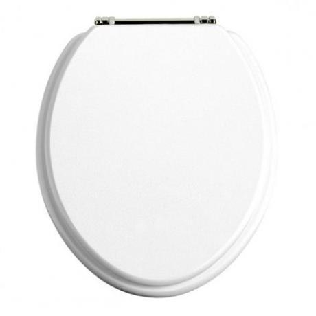 Heritage - Standard Toilet Seat with Chrome Hinges - Various Colour Options