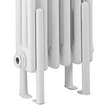 Hudson Reed Floor Mounting Kit for Colosseum Radiators - White - HX300 Medium Image