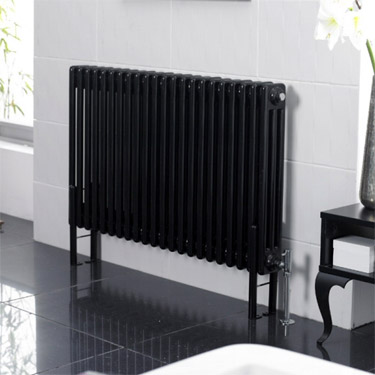 Ultra Colosseum Triple Column Radiator High Gloss Black