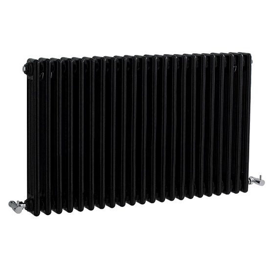 Ultra Colosseum Triple Column Radiator 600 x 1011mm - High Gloss Black - HXB06 profile large image view 1