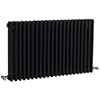Hudson Reed Colosseum Triple Column Radiator 600 x 1011mm - High Gloss Black - HXB06 profile small image view 1
