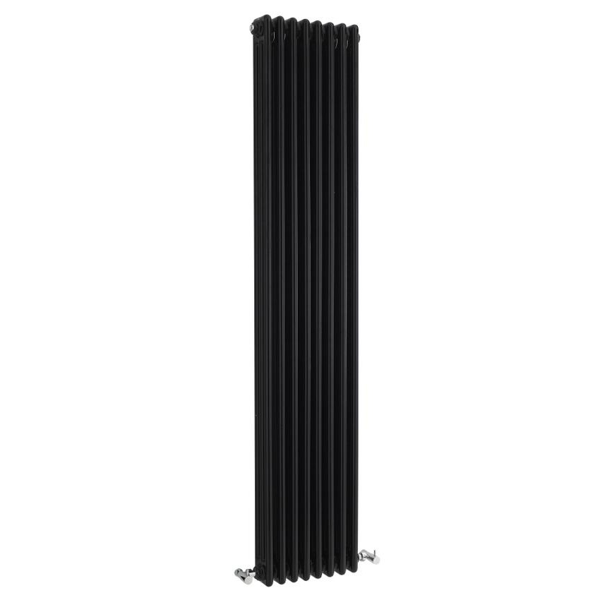 Hudson Reed Colosseum Triple Column Radiator 1800 x 381mm - High Gloss Black - HXB12 profile large image view 1