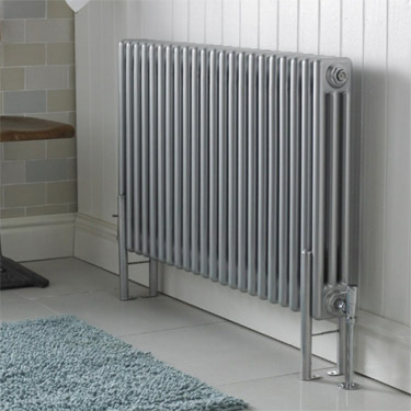 Ultra Colosseum Triple Column Radiator 600 x 1011mm - High Gloss Silver - HXS06 profile large image view 2