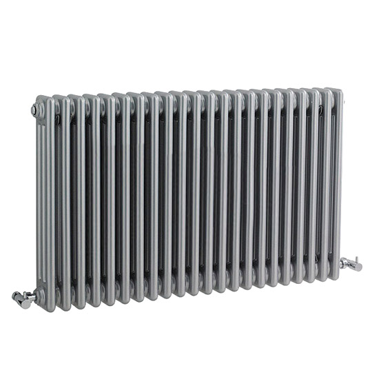 Ultra Colosseum Triple Column Radiator 600 x 1011mm - High Gloss Silver - HXS06 Large Image