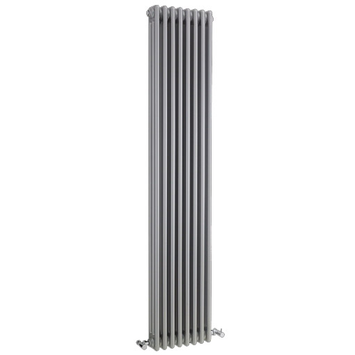 Ultra Colosseum Triple Column Radiator 1800 x 381mm - High Gloss Silver - HXS12 Large Image