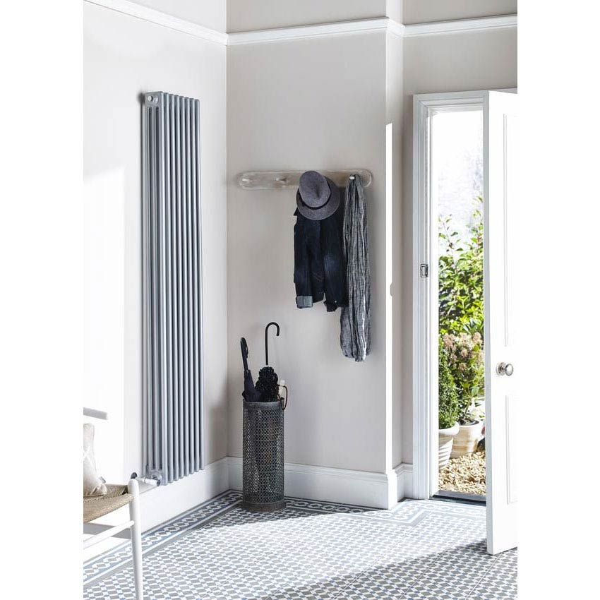 Ultra Colosseum Triple Column Radiator 1800 x 381mm - High Gloss Silver - HXS12 Feature Large Image