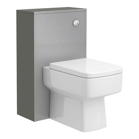 Haywood 500mm Gloss Grey WC Unit + Cistern