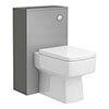 Haywood 500mm Gloss Grey WC Unit + Cistern Small Image