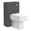 Haywood 500mm Gloss Grey WC Unit + Cistern profile small image view 1