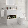 Haywood White Modern Sink Vanity Unit + Toilet Package profile small image view 1