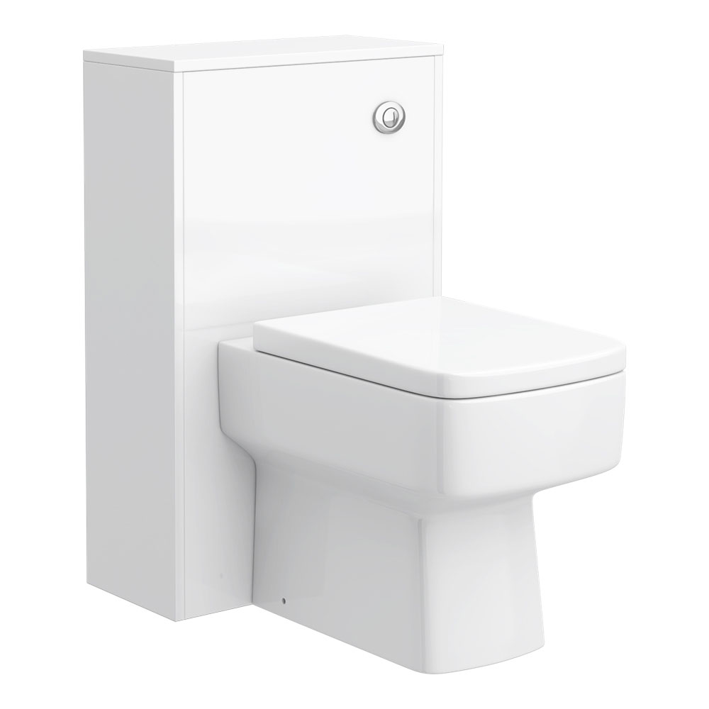 Haywood 500mm Gloss White WC Unit + Cistern