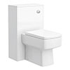 Haywood 500mm Gloss White WC Unit + Cistern profile small image view 1