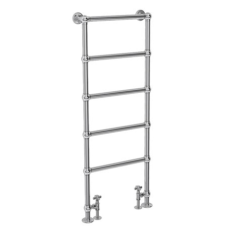 Chatsworth Floor Mounted Towel Rail 1550 x 600mm - Chrome