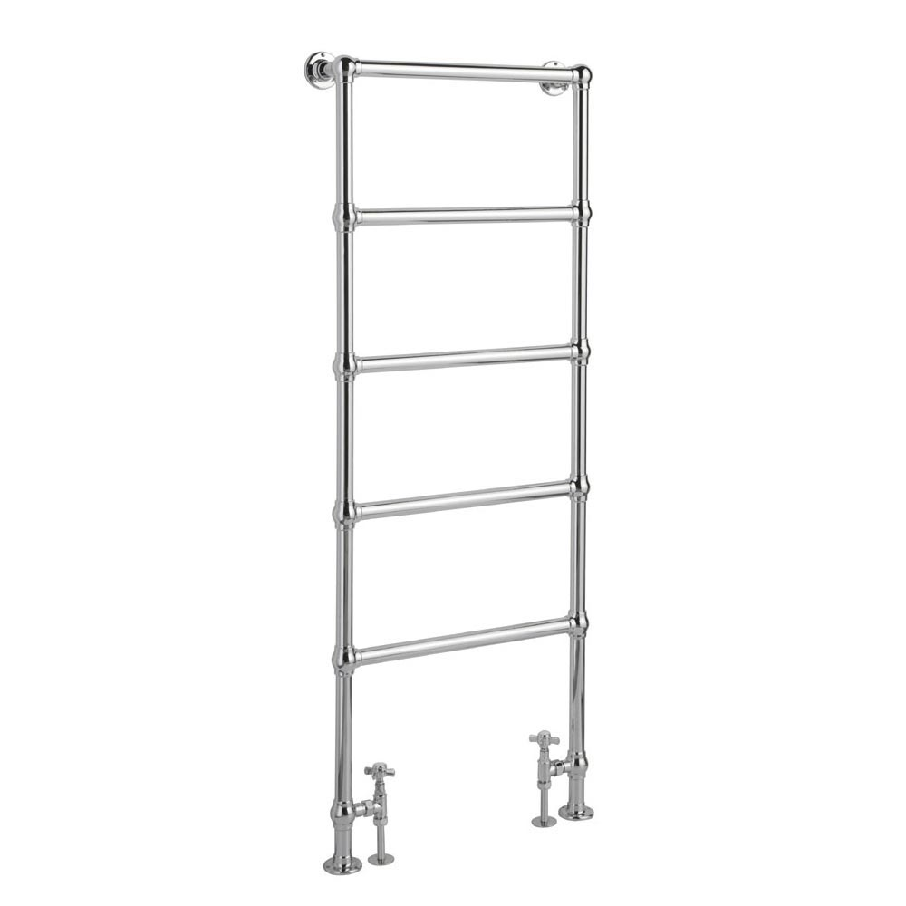 Hamilton Floor Mounted Towel Rail 1550 x 600mm - Chrome profile large image view 1
