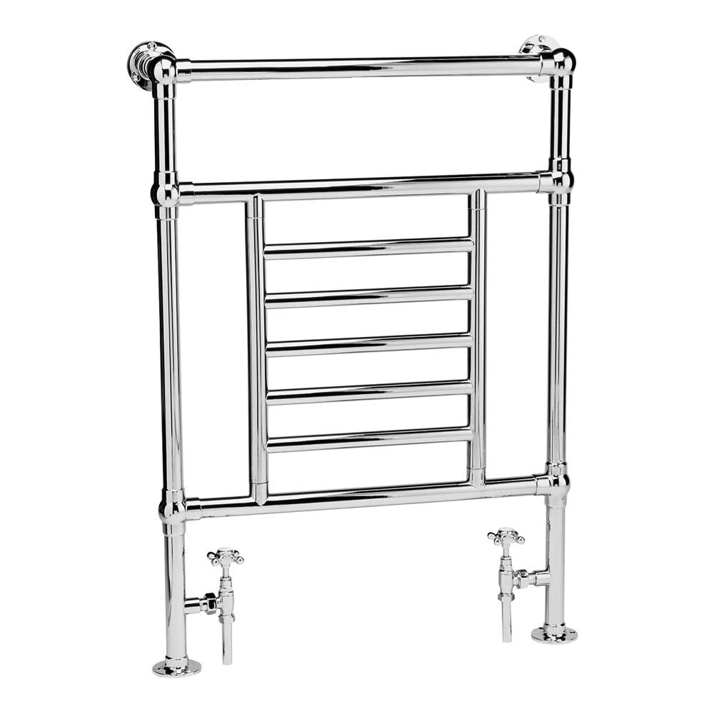 Hampshire Traditional 963 x 673mm Chrome Towel Rail Large Image