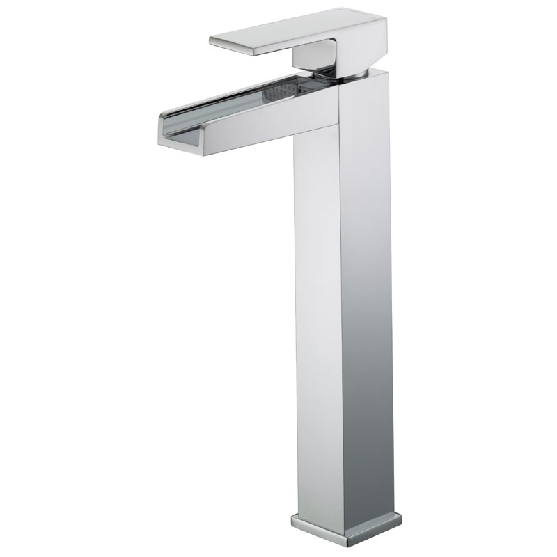 Bristan Hampton Contemporary Tall Basin Mixer (no waste) - Chrome - HA-TBAS-C Large Image