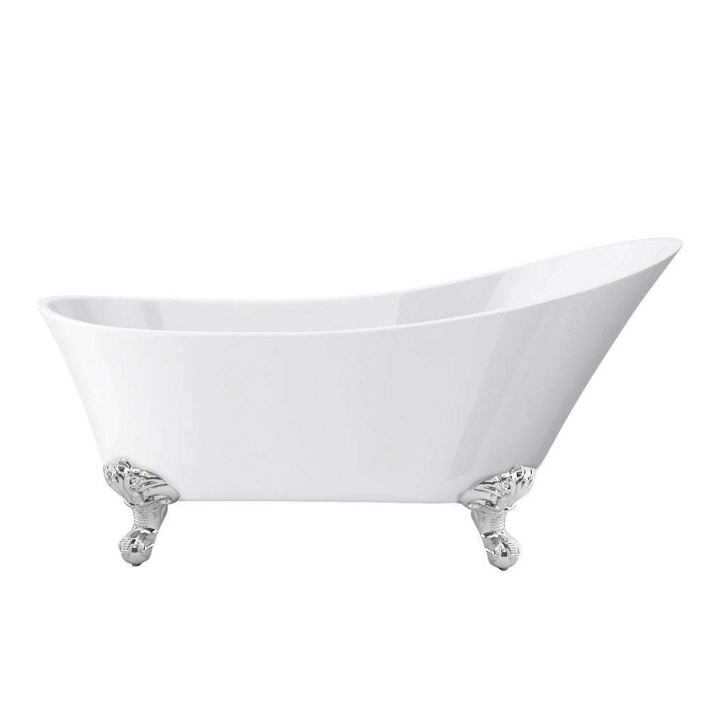 Harlow 1610 Slipper Bath + Chrome Leg Set profile large image view 4