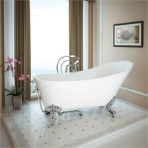 Harlow 1610 Slipper Bath with Chrome Leg Set Medium Image