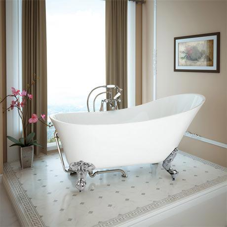 Harlow 1610 Slipper Bath with Chrome Leg Set