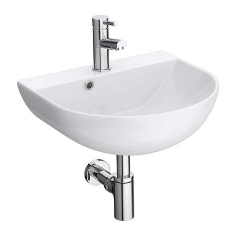 Harmonia Curved Wall Hung Basin 1TH - 430 x 360mm