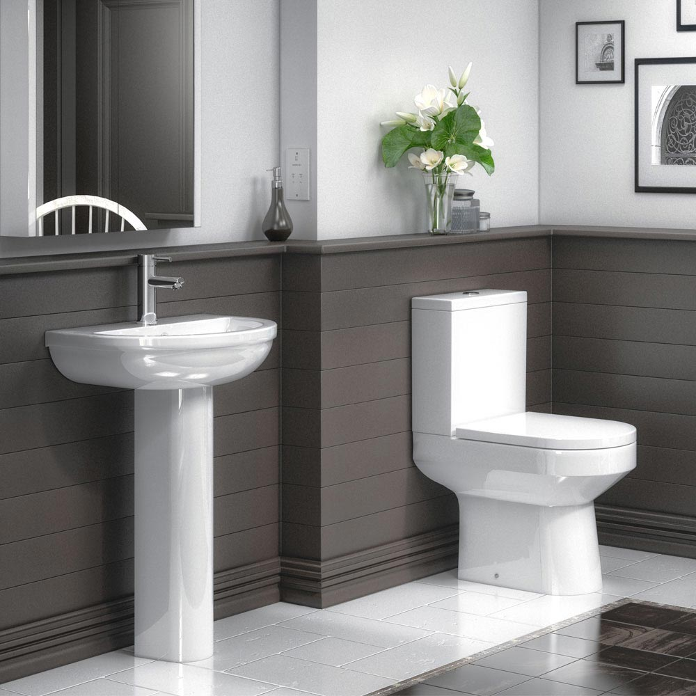 Harmony Close Coupled Toilet + Soft-Close Seat profile large image view 2