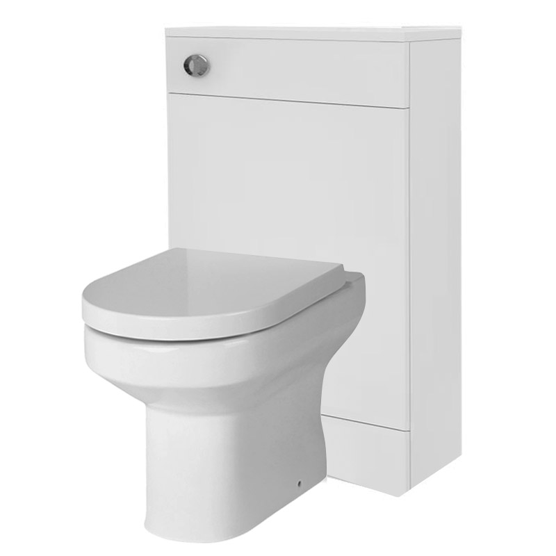 Harmony High Gloss White BTW WC Unit with Cistern & Soft Close Seat W500 x D200mm Large Image