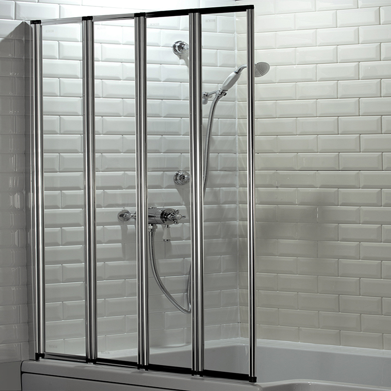 Haro Folding Bath Screen (1000mm Wide - 4 Fold Concertina) Large Image
