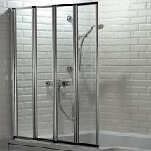 Haro Folding Bath Screen (1000mm Wide - 4 Fold Concertina) Medium Image