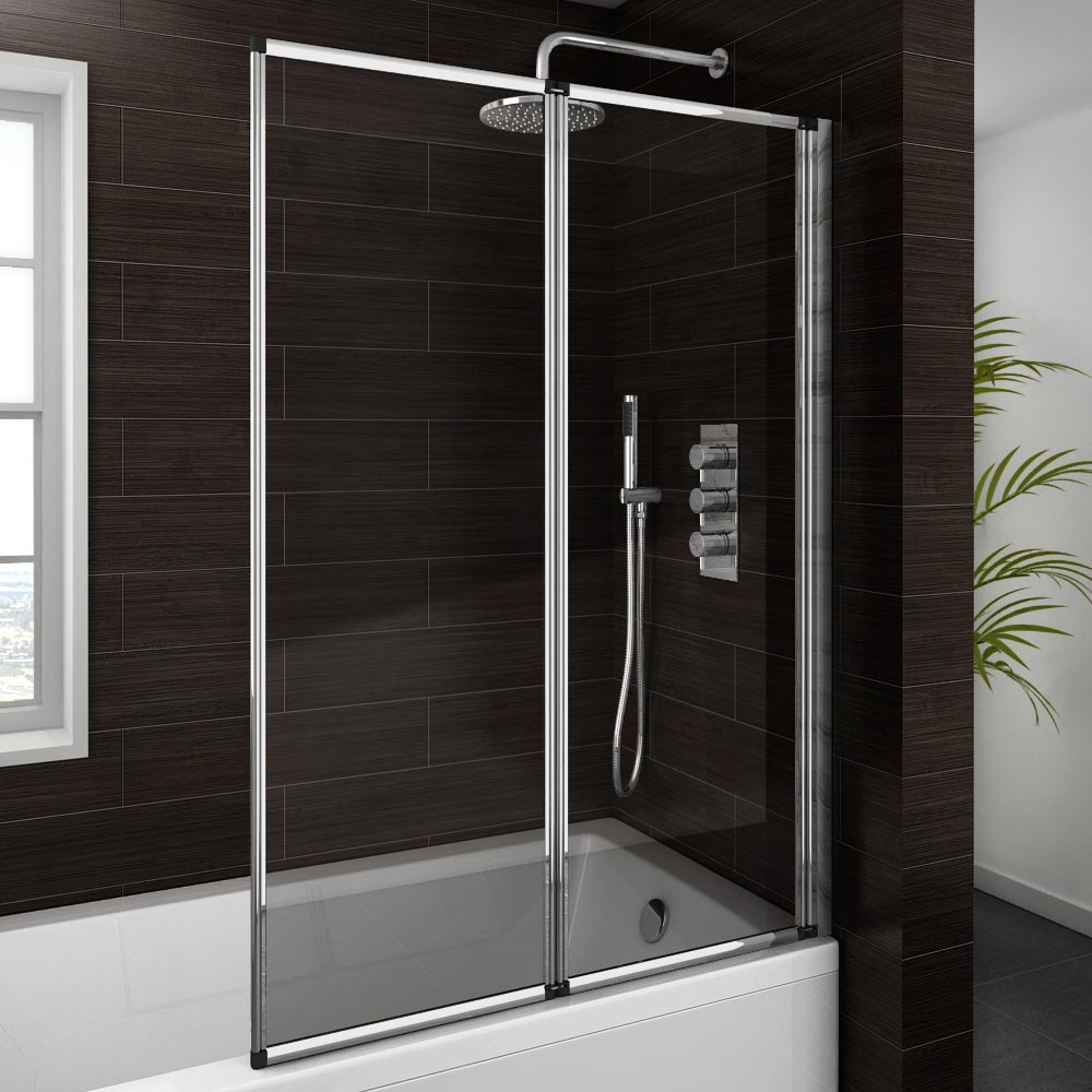 Haro Folding Bath Screen (1000mm Wide - 2 Fold Concertina) Large Image