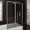 Haro Folding Bath Screen (1000mm Wide - 2 Fold Concertina) profile small image view 1