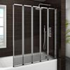 Haro Folding Bath Screen (1200mm Wide - 5 Fold Concertina) profile small image view 1
