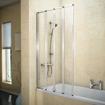 Haro Folding Bath Screen (800mm Wide - 4 Fold Concertina) Medium Image