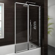 Haro Folding Bath Screen (800mm Wide - 2 Fold Concertina) Medium Image