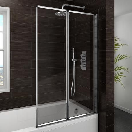 Haro Folding Bath Screen (800mm Wide - 2 Fold Concertina)